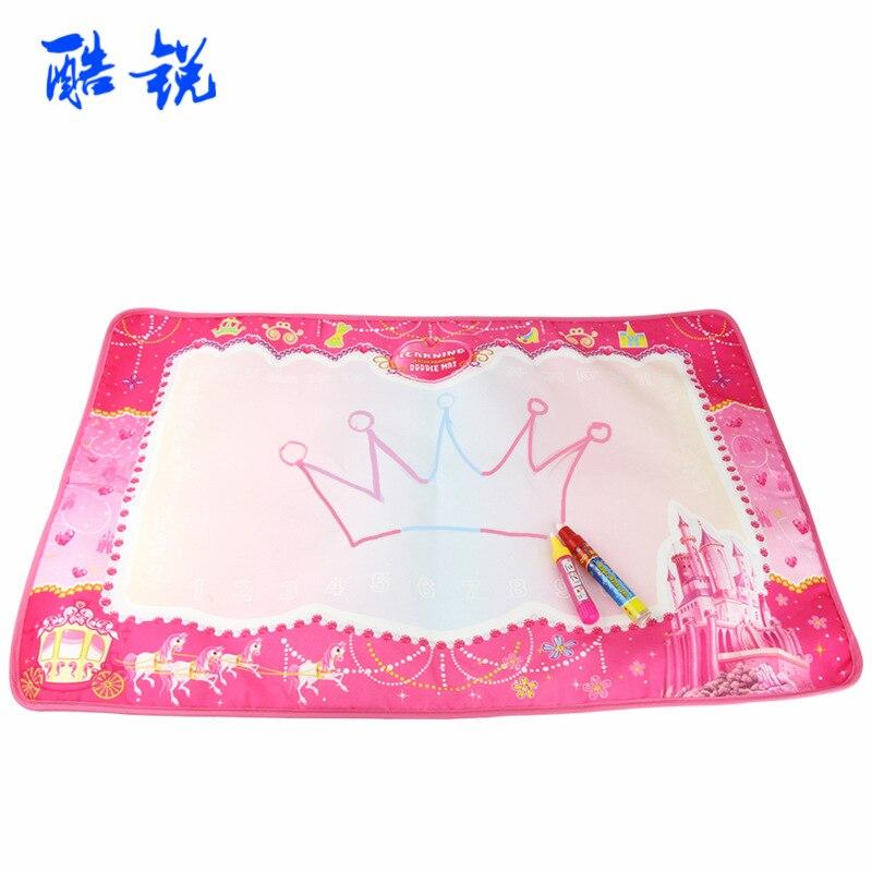 Princess Castle Magic Water Magic Canvas Baby Painted Doing Homework Blanket Colorful Graffiti Blanket