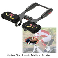Lixada Carbon Fiber Bicycle Aerobar Bike Road Triathlon Arm Rest Handlebars Bike Racing Aero Bar