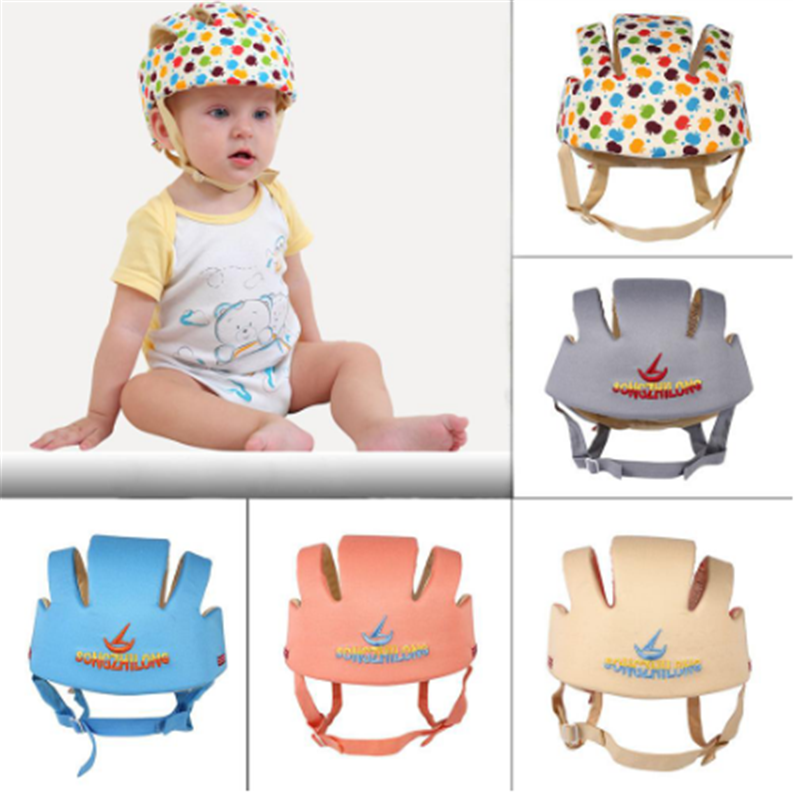 Baby Hat Safety-Protective-Helmet Infant Kids Walk-Caps Adjustable Newbron Cotton