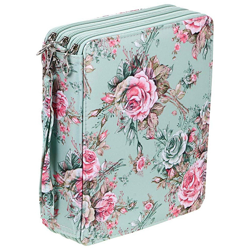 AAY-120 Slots Colored Pencil Case With Compartments Pencil Holder For Watercolor Pencils(Rose)
