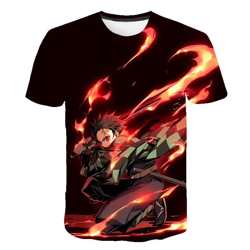He65600499a424aceb6ef5cd98d56bfbbB Kids Boys Devils killer T-shirts 3d Print Cosplay Japanese Ghost blade Children Summer Short Sleeve Tshirts Demon Slayer Clothes