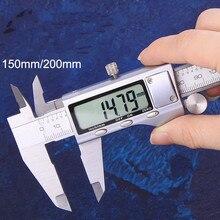 цена на High precision digital caliper stainless steel vernier caliper electronic digital caliper 0-150  0-200 0-300mm