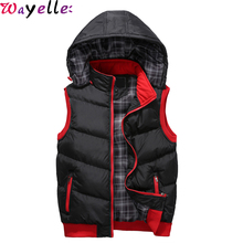 Mens Winter Warm Vests 2019 Mens Fashion Sleeveless Cotton-Padded Vests Jackets Coat Men Thicken Waistcoats Plus Size 5XL цены онлайн
