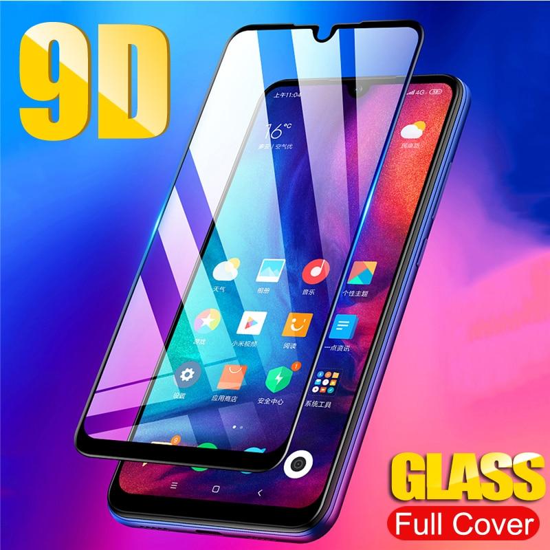 9D Full Glue Cover Tempere Glass For Xiaomi Mi 9 SE 9T A3 Lite Protective Glass For Redmi 7 Note 7 K20 Pro Screen Protector Film