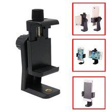 Telefone tripé adaptador de montagem clipe suporte suporte vertical horizontal vídeo tiro para andriod para iphone telefones inteligentes