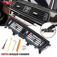 64229166885 Car Front Console Center Gril Dash AC Air Heater Vent For BMW 5 Series F10 F11 F18 520 523 525 528 530 535