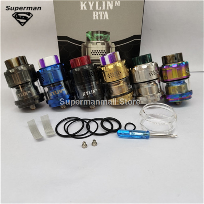Kylin RTA Adjustable Tank Atomizer 3ml 4.5ml Capacity With 0.15ohm 0.2ohm Mesh Coils Honeycomb Airflow For Anti-leaking