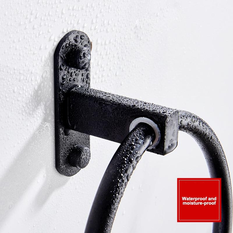 Полотенце кольцо ванная полотенце держатель нержавеющая сталь полотенце вешалка черный серебристый ванная аксессуары кухня органайзер полотенце вешалка