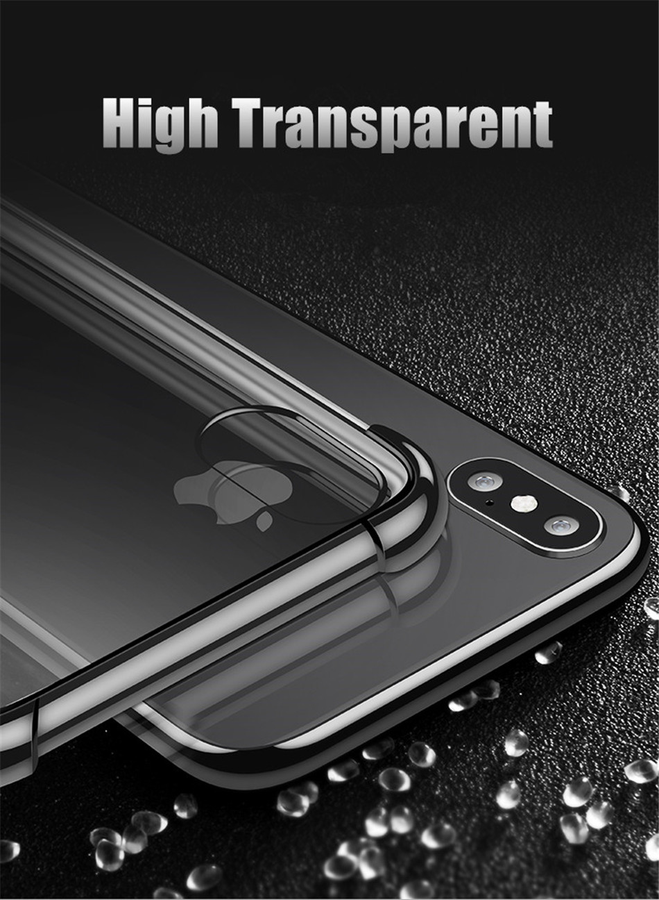 He65671490fd94fc2b31be1c76cc07b73j - USLION Shockproof Armor Clear Case For iPhone 11 Pro Max XS Max XR X 8 7 6 6s Plus 5 5s SE Transparent Phone Cases Airbag Cover
