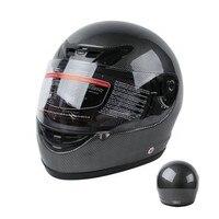 DOT Adult Carbon Fiber Flip Up Full Face Motorcycle Helmet Street Bike Motocross S M L XL 1