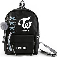 KPOP TWICE Momo Mina Sana Tzuyu Schoolbag Double Shoulder Bag Fresh-wrap, Korean-style Backpack High-capacity Bag Students New(China)