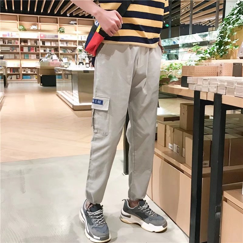 2018 Spring And Summer New Style Thin Trend Men Harem Pants Capri Pants Sports Pants MEN'S Casual Pants Bib Overall