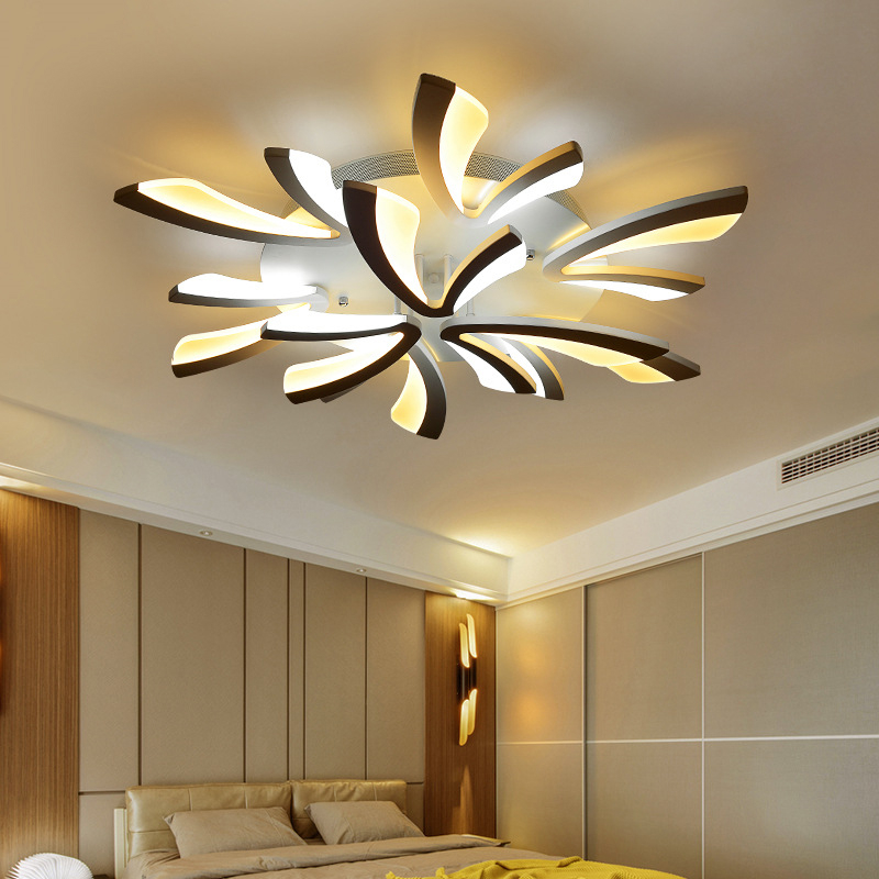 Modern Led Chandeliers Ceiling Mounted LED Chandeliers For Bedroom Living Room Dining Room Kitchen Lighting Finished Acrylic