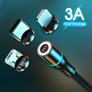 Magnet Charger 3A Magnetic Cable Micro USB Cable Type C Cable Fast Charging For iPhone Samsung Android Mobile Phone Cord Wire
