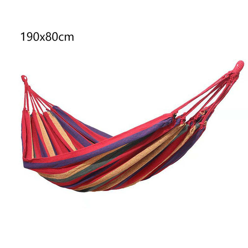 Outdoor Hammock For One Person Colored Canvas Hammock Leisure Camping Strong Hammock Anti-rollover Hammock