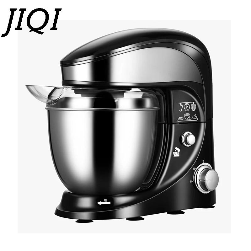 JIQI 4L acier inoxydable bol électrique alimentaire Stand mélangeur Chef Milkshake batteur crème oeuf fouet mélangeur gâteau pâte pétrissage Machine