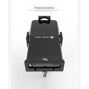 Image 5 - ユニバーサルアルミ合金オートバイ携帯電話ホルダーブラケット 4.5 6 インチスマートフォン屋外自転車バイク GPS マウントスタンド