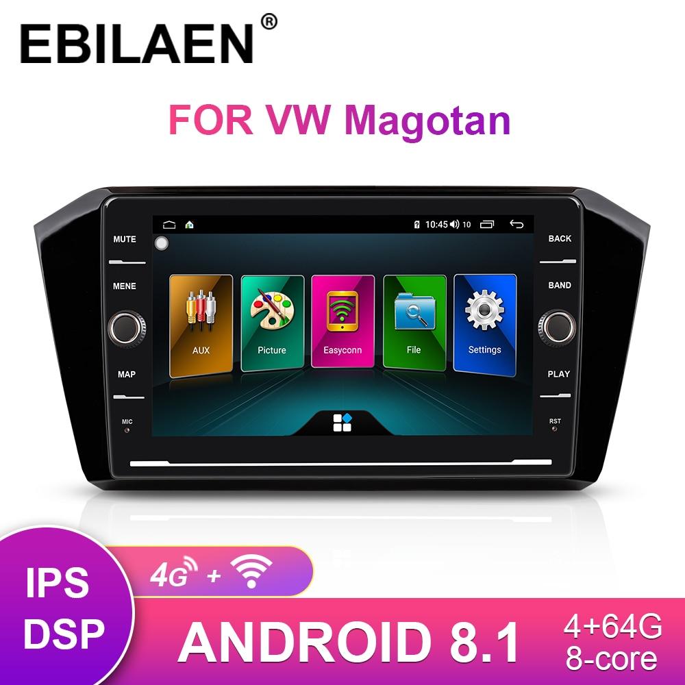 Car Radio Multimedia Player For VW  Passat B8 Magotan 2015-2018 2Din Android 8.1 Autoradio GPS Navigation DSP Tape Recorder IPS