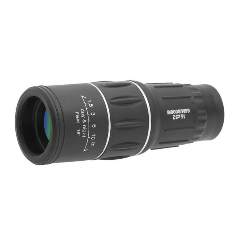 16x52 Monocular Telescope High Powered Dual Focus Portable Handheld Ultra Monocular Scope For Camping Birdwatch Hunting 30x25