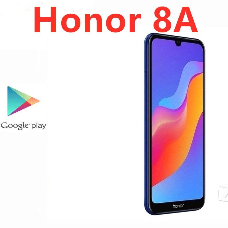 Быстрая доставка DHL, Смартфон Honor 8A, 4G LTE, распознавание лица, MTK6765, 13,0 МП, полный экран 6,09 дюйма, 3 ГБ ОЗУ, 64 Гб ПЗУ, Android 8,0, две Sim-карты