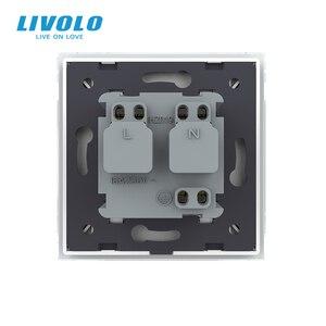 Image 5 - Livolo EU Standard Power Socket, White Glass Panel, AC 110~250V 16A Wall Power Socket with Waterproof Cover C7C1EUWF 11