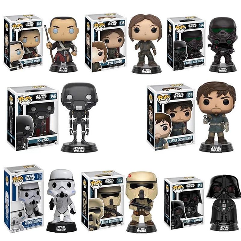 FUNKO POP Star Wars Darth Vader Luke Skywalker Leia Action Figure Sammlung Modell Spielzeug für Kinder weihnachten Geschenk