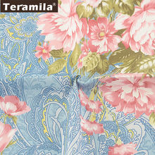 Цветочная хлопчатобумажная ткань с принтом Лоскутная швейная