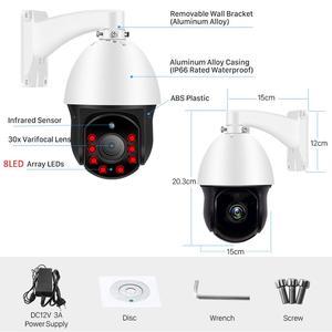 Image 3 - 1080P PTZ IP Kamera Outdoor Onvif 30X ZOOM Wasserdichte Mini Speed Dome Kamera 2MP H.265 IR 60M P2P CCTV Sicherheit Kamera xmeye app