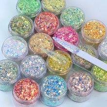 2021 New Powder Nail Art Glitter Powder Laser Chameleon sparkling Acrylic Powder DIY Decorative Trim Nail Art Accessories