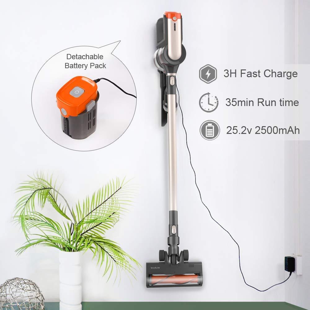 Womow Cordless Vacuum Cleaner 25kpa Power Suction Aspiradora Stick Handheld Wireless Vacuum Cleaner W20 Vs Ilife For Home Car 6