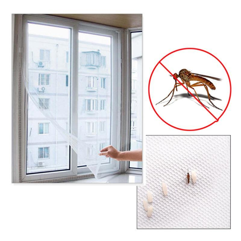 1 PC 150 X 130cm DIY Anti Mosquito Flyscreen Curtain Insect Mosquito Bug Window Mosquito Net Mesh Screen Anti Mosquito Net