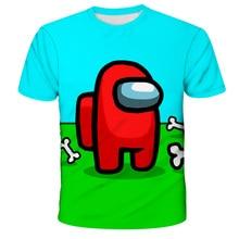 Cartoon Among Us Children Tops Tshirt Funny Girls Boys Summer Kawaii Camiseta Tee Streetwear