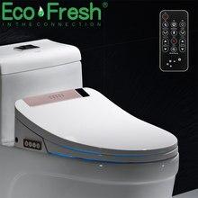 Ecofresh vaso sanitário moderno, assento sanitário moderno com luz de led e aquecimento seco, eletrônico bidé