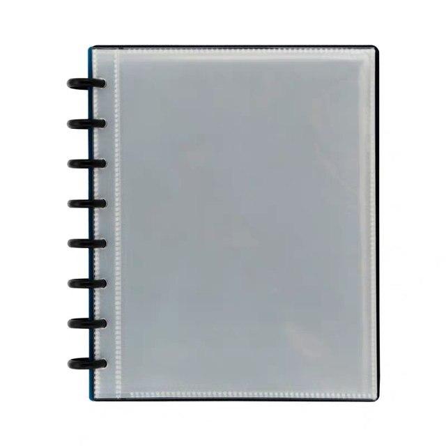 25pcs/Pack A4 A5 Transparent Loose-leaf Bag Folder Information Book Pocket for 8/11 Holes Mushroom Hole Disc Ring System Planner
