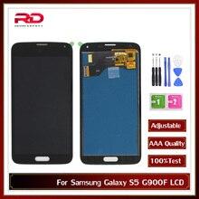 S5 갤럭시 4G S5 SM G900 G900 i9600 G900R G900F G900M LCD 디스플레이 터치 스크린 디지타이저 s5에 대 한 s5 AAA TFT LCD 화면
