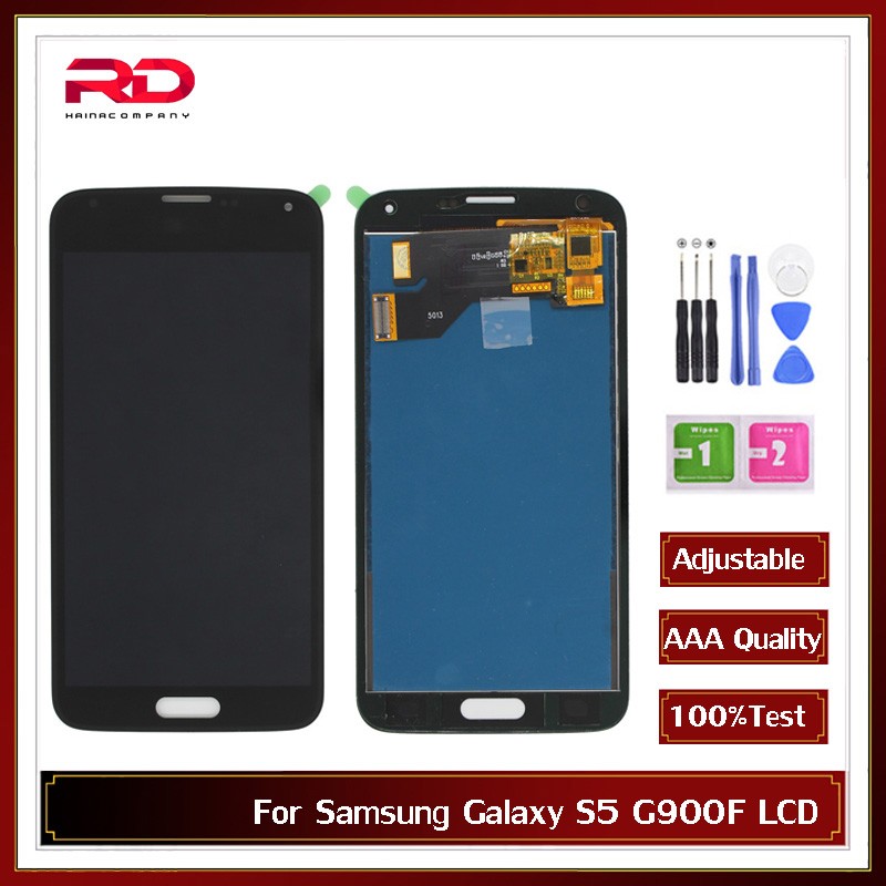 S5 AAA TFT <font><b>LCD</b></font> Screen For Samsung Galaxy 4G S5 <font><b>SM</b></font>-G900 G900 i9600 G900R <font><b>G900F</b></font> G900M <font><b>LCD</b></font> display Touch Screen Digitizer For s5 image