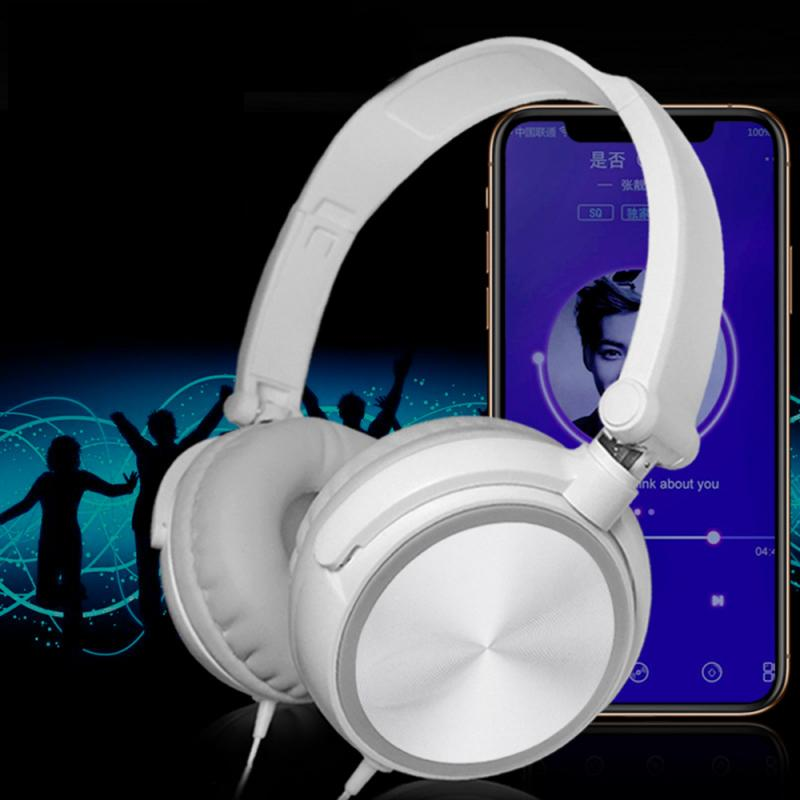 Potable 3.5mm Gaming Headset Reduce Noise Wired Headphones Stereo With Mic Headsets For  Smartphone Computer