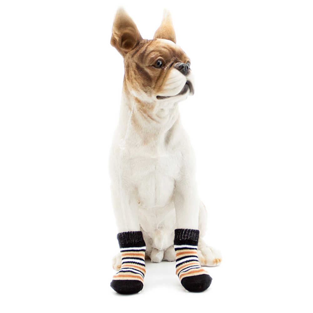 4 Stks/set Honden Winter Schoenen Non-Slip Gebreide Sokken Kleine Honden Kat Schoenen Chihuahua Dikke Warme Poot Protector hond Sokken Booties