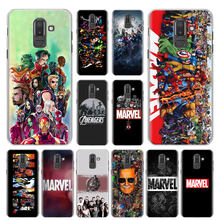 Marvel Superheroes Comis Phone Case for Samsung Galaxy M10 M20 M30 M40 J4 J6 J8 2018 J4+ J6+ Hard Cover Capa(China)