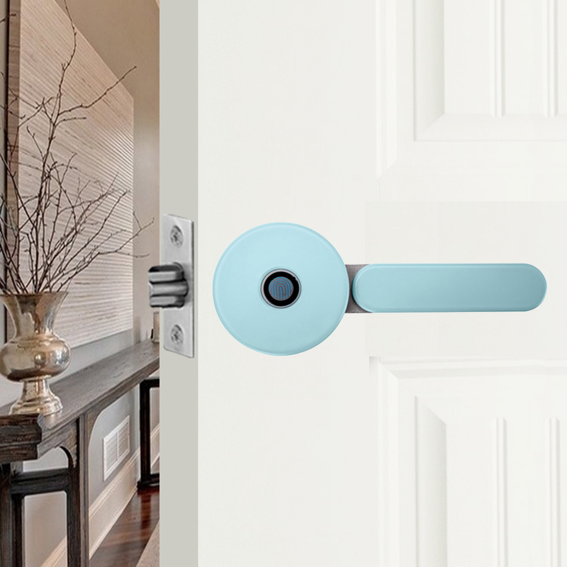 Умный дом, алюминиевый сплав, блокировка по отпечатку пальца, поддержка отпечатка пальца/разблокировка ключа, USB-порт зарядки для деревянно...
