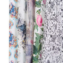 Хлопчатобумажная ткань с принтом 1 метр для рукоделия швейное