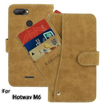 Перейти на Алиэкспресс и купить Винтажный кожаный бумажник Hotwav M6 чехол 5,5 дюймФлип Роскошный чехол для карт Магнитный защитный чехол для телефона s сумки
