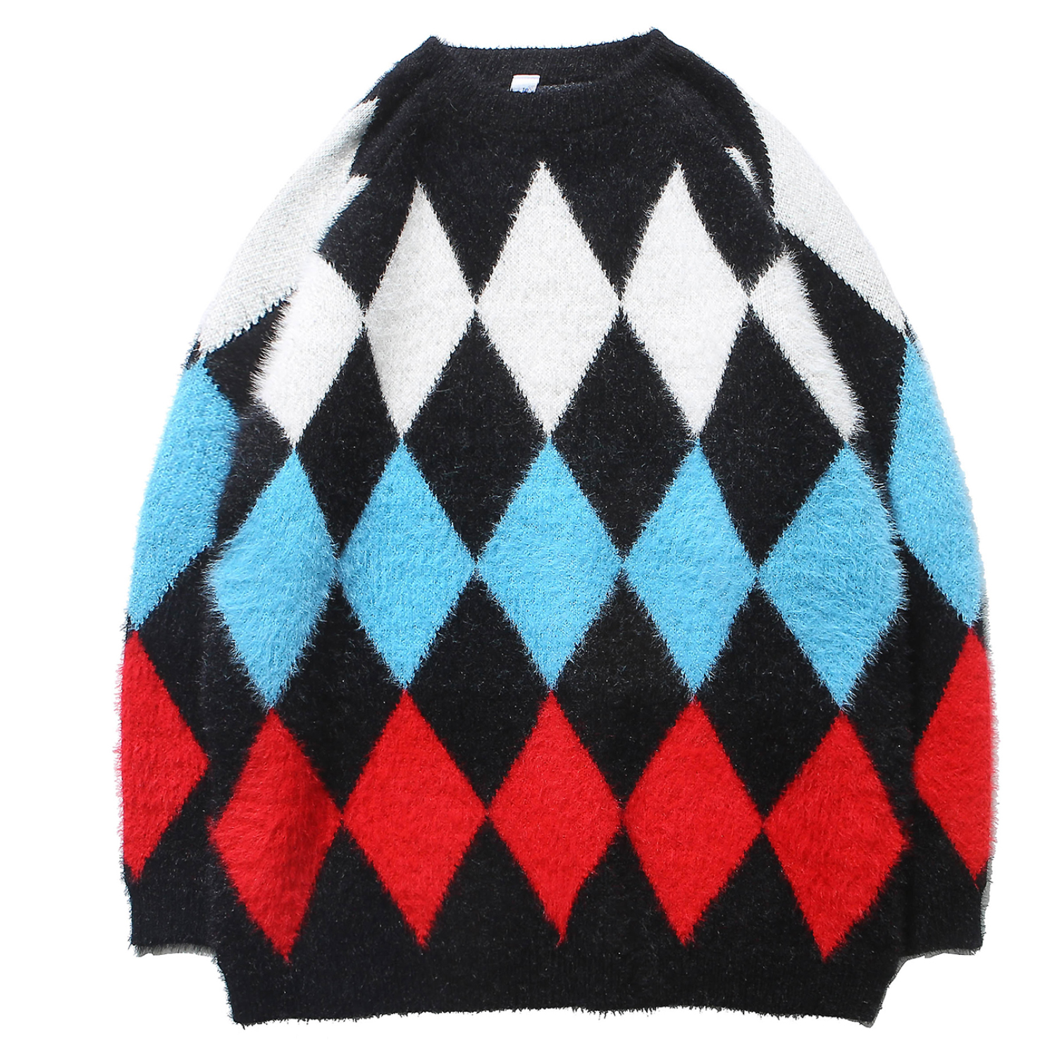 Men's Sweater Fine Knitted Plaid Jumpers Cashmere Pullover Stitching Colors Tops Fashion For Young Boys Outdoor Autumn Winter