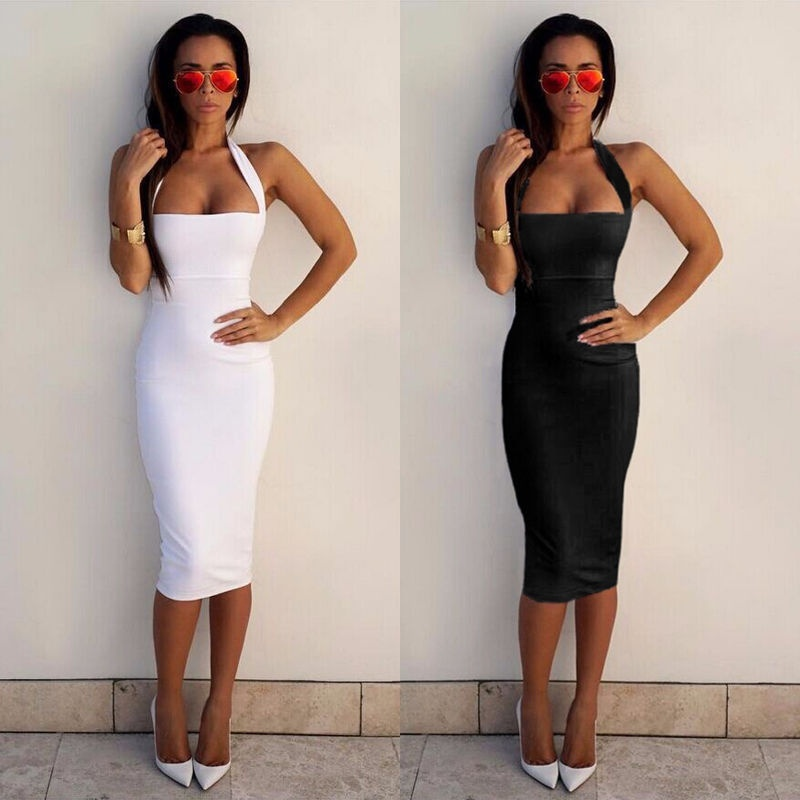 Women Casual Summer Short Mini Dress Party Bodycon Sleeveless