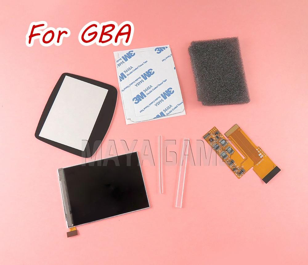 OCGAME pour Console GBA luminosité réglable 10 niveaux haute luminosité IPS rétro-éclairage pour Console GBA nentendait écran LCD rétro-éclairé