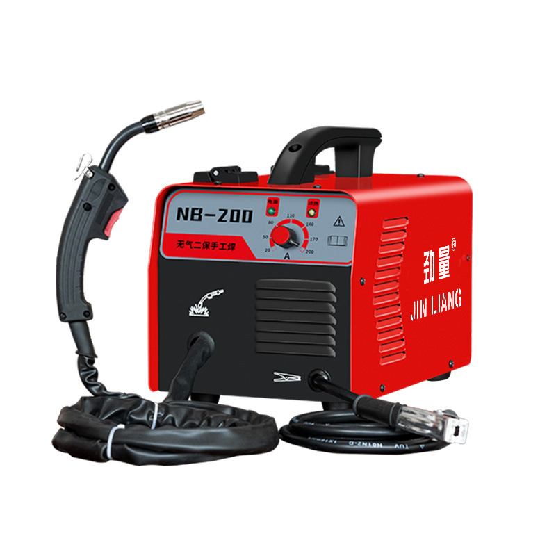 NB-200 airless two-shielded welding machine 220V small household carbon dioxide self-shielded welding machine semi-automatic wel