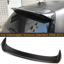 Carbon Fiber Car Rear Roof Window Boot Lip Wing Spoiler for Volkswagen VW Scirocco Standard Only 2008-2013 Non for R FRP Spoiler