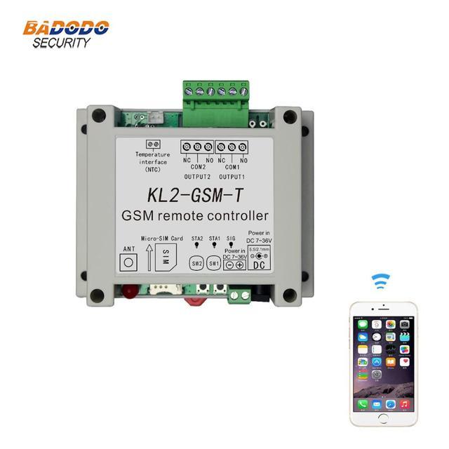 Định Vị GSM Rơ Le Điều Khiển Công Tắc Bộ Điều Khiển Truy Cập Với 2 Đầu Ra Relay 1 NTC Cảm Biến Nhiệt Độ