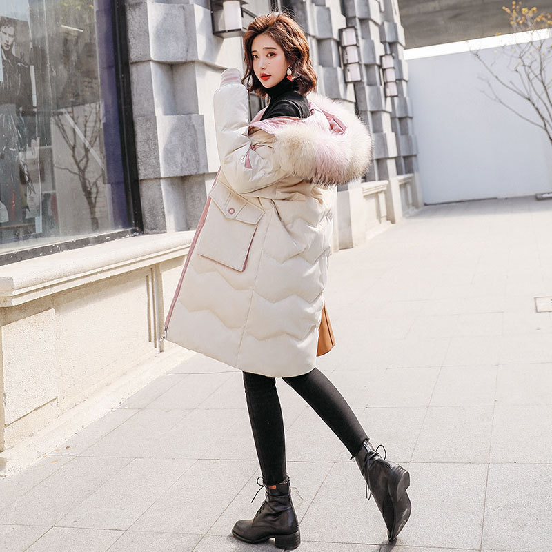 Duck White Down Jacket Women Raccoon Fur Collar Down Coat Puffer Jacket Winter Coat Women Warm Parka Casaco 8523 YY1229