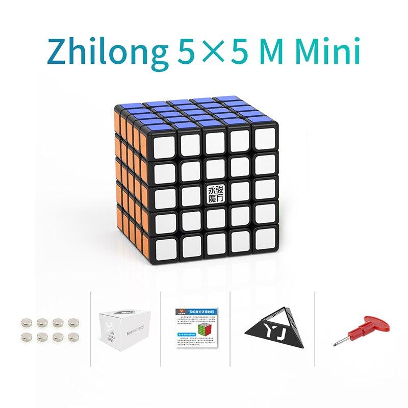 Original YJ Zhilong Mini 3x3 M 4x4 M 5x5 M Magnetic Speed Cubes Small Size YongJun Zhilong Magico Cube Puzzle Toys Magnetic Cube 9